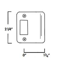 1-3/4 Inch Lip Radius Corner Strike Plate, Don-Jo 9175-RC