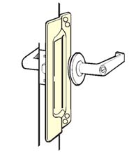 Outswing Door Security Latch Guard, Don-Jo 9211