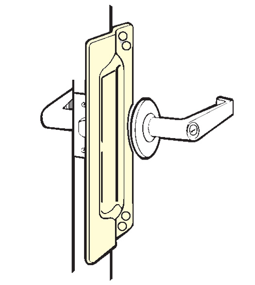 Outswing Door Security Plates