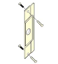 Outswinging Aluminum Entrance Door Latch Guard, Don-Jo AL-211