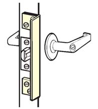 Outswinging Door 6 Inch Angle Plate Latch Guard, Don-Jo ALP-206
