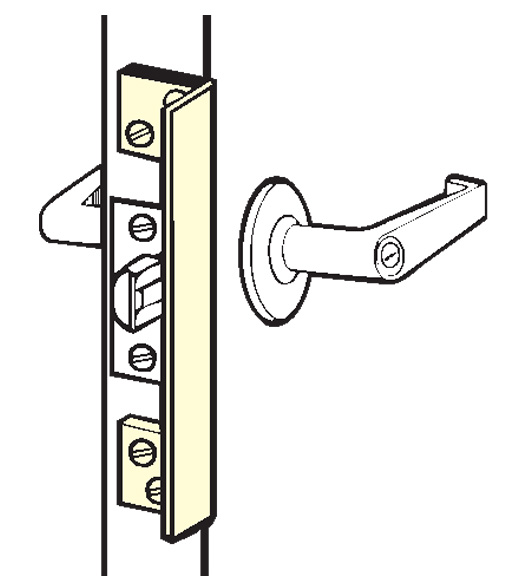 Outswinging Door 6 Inch Angle Plate Latch Guard, Don-Jo ...