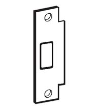 ANSI Stainless Steel Deadbolt Strike Plate, Don-Jo BFD-2-630
