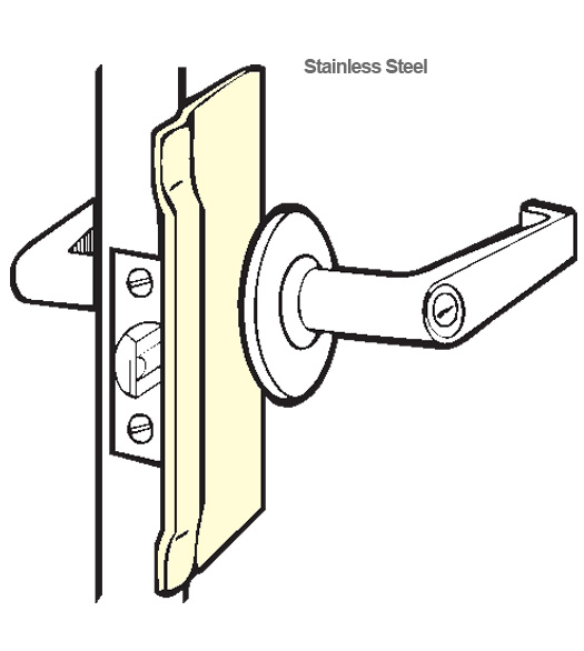 Stainless Security Latch Guard Plate