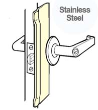 10 Inch Stainless Security Latch Guard Plate, Don Jo BLP 110 630