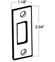 1-1/8 inch x 2-3/4 inch Deadbolt Strike, Don-Jo DS-234