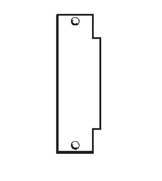 ANSI Strike Hole Filler Plate, Don-Jo FS-260 - Doorware.com