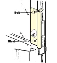 Storefront Door Security Latch Guard, Don-Jo GLP-307