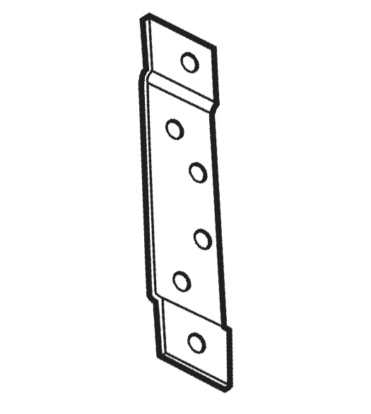 4 1 2 Inch Hinge Reinforcement Plate Don Jo Hr 120