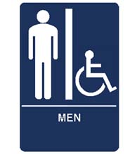 Men's Room Handicap Sign
