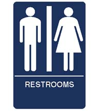 Men's/Women's Restroom Sign