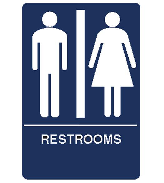 Restroom Signs Car Interior Design