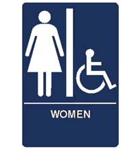 Women's Room Handicap Sign