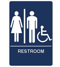 Men's/Women's Room Handicap Sign