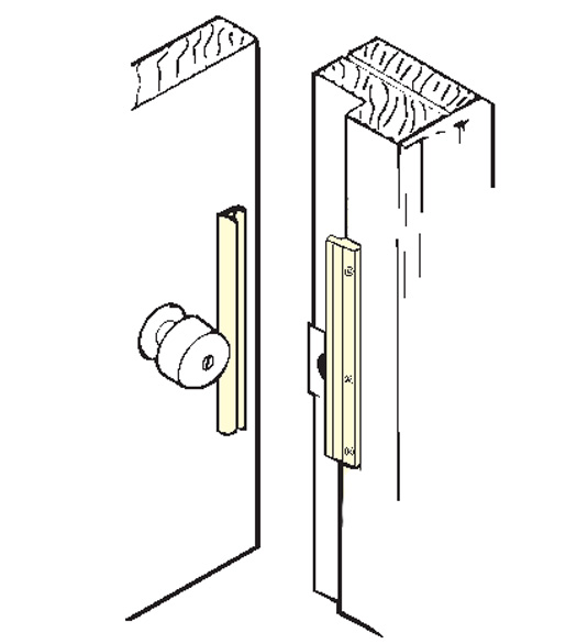 Inswing Door Security Latch Guard