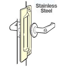 Outswing Door Stainless Steel Security Latch Guard, Don-Jo LP-111-630