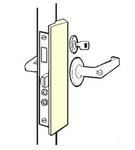 Outswinging Entry Door Slimline Latch Guard, Don-Jo LP-2878