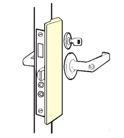 Outswinging Entry Door Slimline Latch Guard