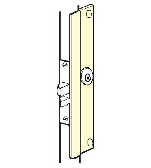 Outswinging Aluminum Entry Door Latch Guard