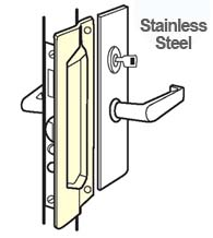 Outswing Door Stainless Steel Mortise Latch Guard, Don-Jo MLP-111-630