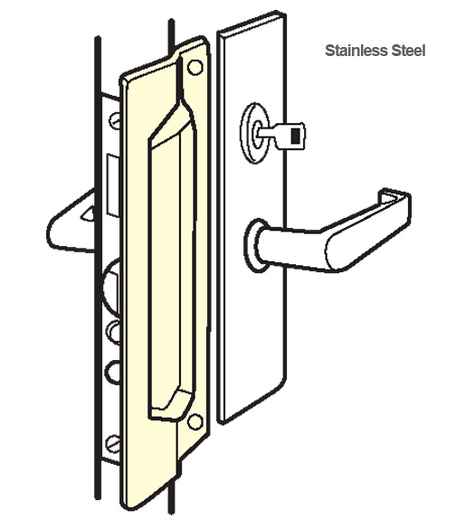 Stainless Steel Mortise Latch Guard Plate