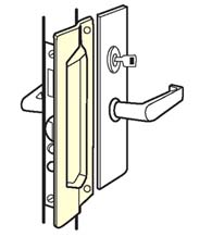 Outswing Door Steel Mortise Latch Guard, Don-Jo MLP-211