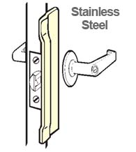 6 Inch Stainless Narrow Latch Guard Plate, Don-Jo NLP-106-630