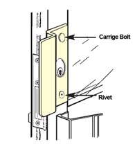 Center Hung Storefront Door Security Latch Guard, Don-Jo OLP-2651