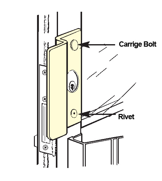 Center Hung Storefront Door Security Latch Guard Don Jo Olp 2651