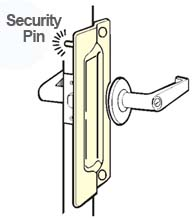 Outswing Door Security Pin Latch Guard, Don-Jo PLP-211