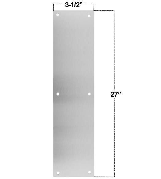 Stainless Steel 3.5 x 27  Push Plate