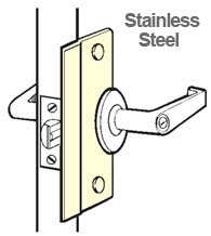 6 Inch Stainless Security Latch Plate, Don-Jo SLP-106-630