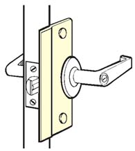 6 Inch Security Latch Plate, Don-Jo SLP-206