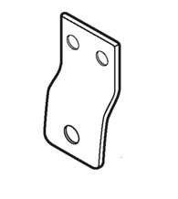 Storefront Door Latch Installation Plate, Don-Jo TB-215