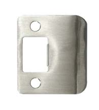 Stainless Steel Radius Corner Strike Plate, Don-Jo ST-214-RC-630