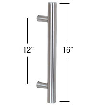 16 Inch Contemporary Stainless Steel Door Pull