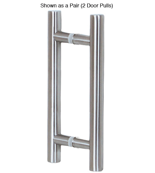 16 Contemporary Glass Door Pulls  sc 1 st  Doorware.com & 16 Inch Contemporary Stainless Steel Glass Door Pulls Pair ...