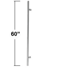 5 Foot Contemporary Stainless Steel Door Pull