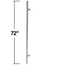 6 Foot Contemporary Stainless Steel Door Pull