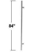 7 Foot Long Stainless Steel Door Pull