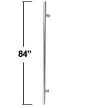 Genial 7 Foot Long Stainless Steel Door Pull