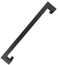 24 Inch Oil Rubbed Bronze Stainless Steel Offset Pull, DWD MJRP24-613