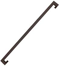 48 Inch Oil Rubbed Bronze Stainless Steel Offset Pull, DWD MJRP48-613