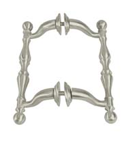 6 Inch Off-Set Decorative Shower Handle Pair