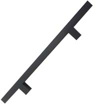 24 Inch Oil Rubbed Bronze Square Ladder Pull, DWD-SQPULL24-613