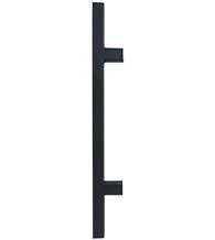modern door pulls residential 24 inch matte black square ladder pull dwdsqpull24622 door pulls doorwarecom