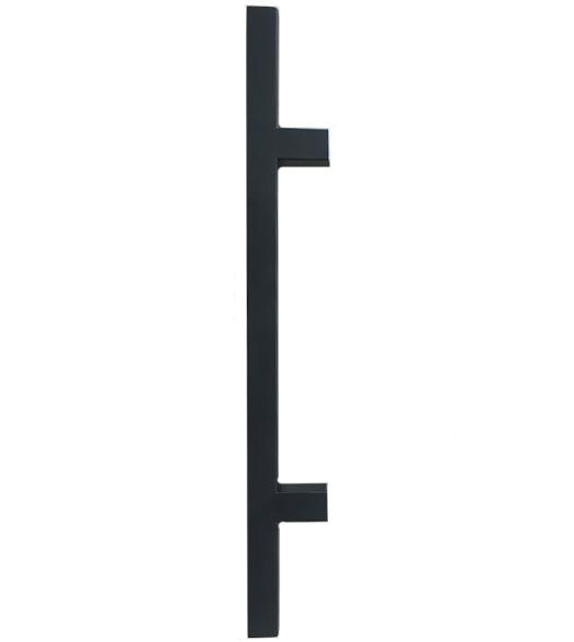 24 Inch Matte Black Square Ladder Pull, DWD-SQPULL24-622