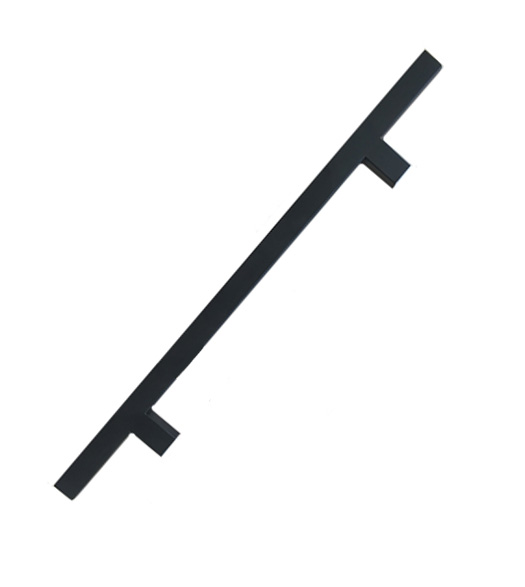 Modern 36 Inch Matte Black Square Door Pull