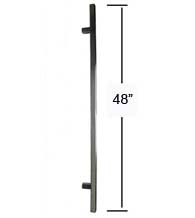 48 Inch Square Door Handles, Satin Stainless Steel