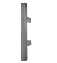 14 Inch Square Door Handles, Satin Stainless Steel